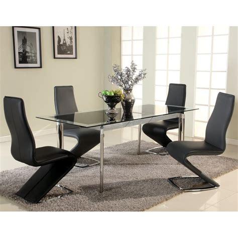 chellsey extendable glass dining table reviews allmodern
