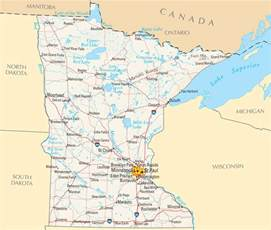 Minnesota County Map with Cities