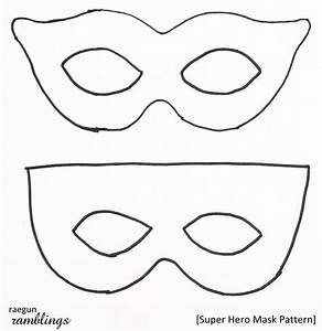 Super Hero Mask Pattern And Tutorial