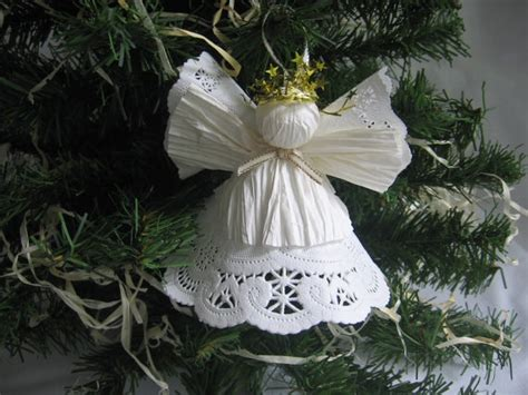 paper doily christmas angel  angel crafts