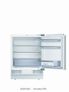 bosch 141l built under fridge bosch appliances With bosch kur15a65
