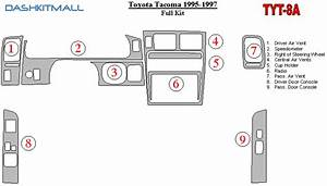 Toyota Tacoma 95 96 97 Dash Trim Kit 1995 1996 1997