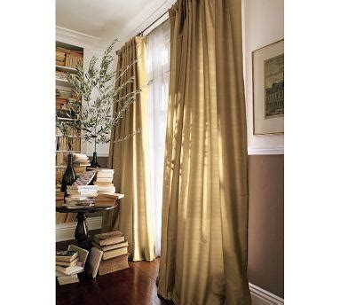 dupioni silk gold pole drapes