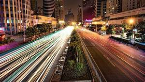 Busy Road In Shanghai At Night Wallpaper - City  U0026 Architecture Hd Wallpapers
