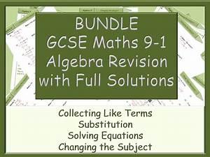 Bundle - Gcse Algebra Revision 9-1