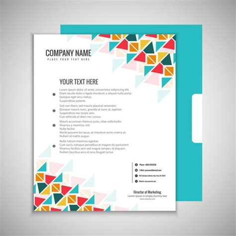 Colorful Flyer Psd Template Free Download by Colorful Brochure Template Vector Free Download