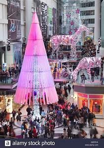 Toronto Eaton Centre shopping mall winter holiday season ...