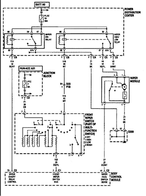 chrysler wiper motor wiring diagram i a 1999 plymouth voyager 3 3 i no wipers i