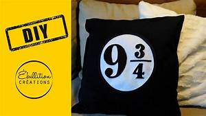 Coussin Harry Potter : diy harry potter coussin plateforme 9 3 4 plattform 9 3 4 cushion harry potter pillow ~ Preciouscoupons.com Idées de Décoration