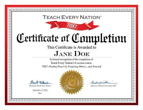 certificate   completion