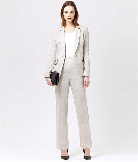 pure linen trouser suit womens suits austin reed
