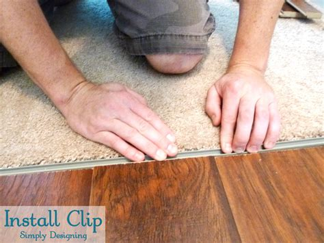 Transition Strips For Laminate Flooring To Carpet by How To Install Floating Laminate Wood Flooring Part 3