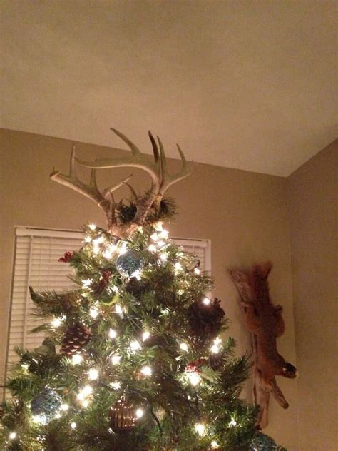 deer antlers   christmas tree topper deer antler