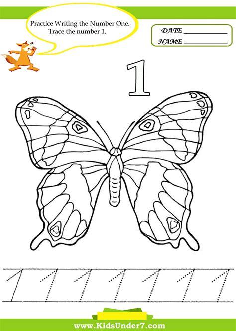 tracing numbers printable free worksheets