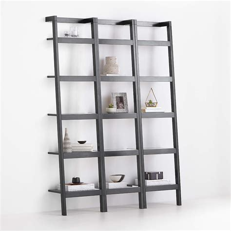 Check spelling or type a new query. Sawyer Black Leaning 18'' Bookcases, Set of 3   Crate and Barrel
