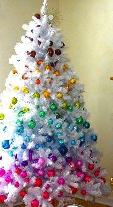rainbow tree christmas decorating ideas pinterest