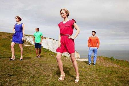 Fashion show on the White Cliffs of Dover