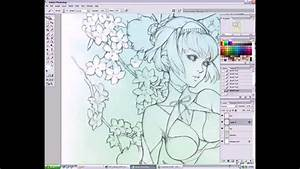 Manga art secrets in Photoshop - Coloring Background - YouTube