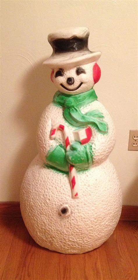 vintage christmas blow mold union snowman large light