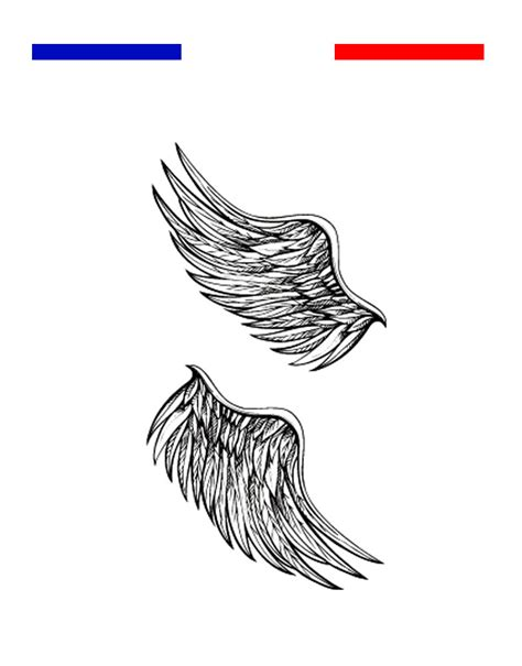 tatouage 2 ailes d ange temporaire mon petit tatouage