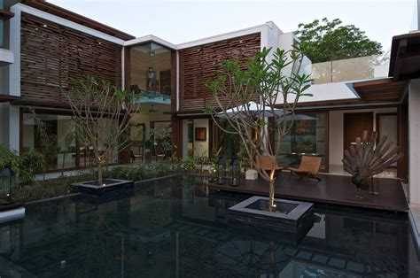 courtyard home designs courtyard house by hiren patel architects architecture