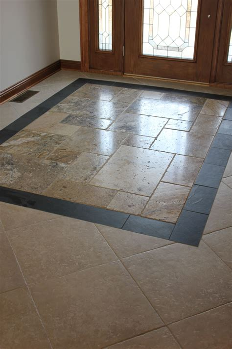 Custom Entryway Tile Design  Kitchen Design  Pinterest