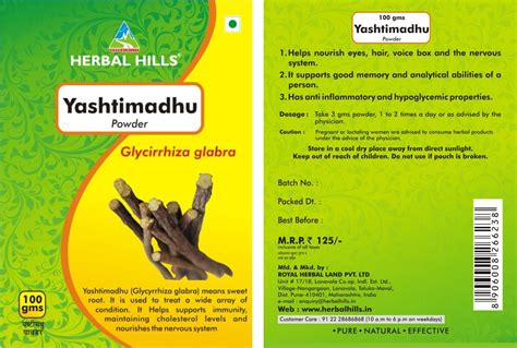 Yashtimadhu Powder Health Benefits Natural Herb