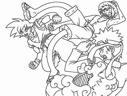 Goku Naruto Luffy Crossover Deviantart