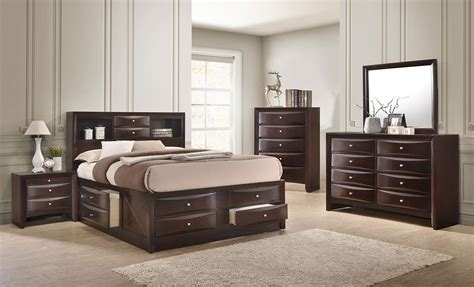 Bookcase Bedroom Set by Emily Bookcase Bedroom Set Cherry Crown