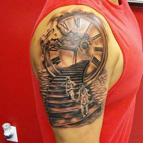tatuajes de reloj  escaleras sleeve tattoos baby