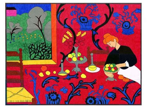 matisse red room art projects  kids