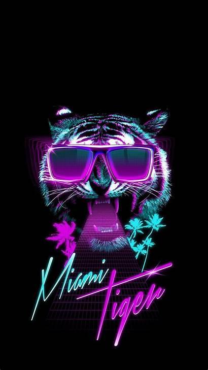 Wallpapers Tiger Iphone Neon Miami Anti Social