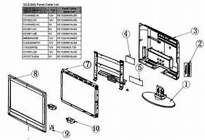 Element 32le30q Lcd Television Parts