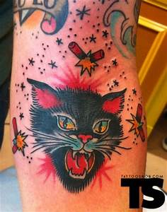 78 Best images about tattoo traditional cats on Pinterest ...