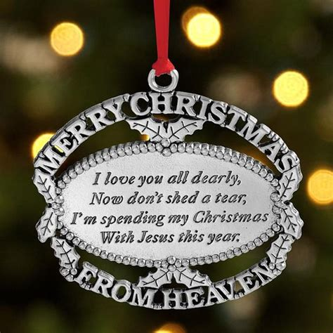 christmas ornament in memory of a lost loved one it s