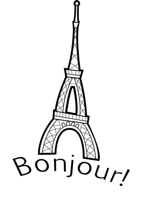 eiffel tower   france coloring page  print