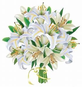 White Lilies Flowers Bouquet PNG Clipart Image | Bouquets ...
