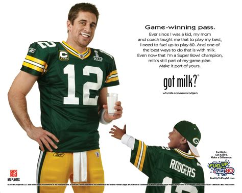 Winning Rodgers Featured In Got Milk Ad