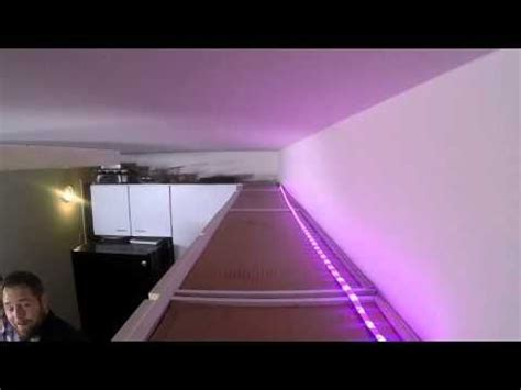 install crown molding  indirect lighting