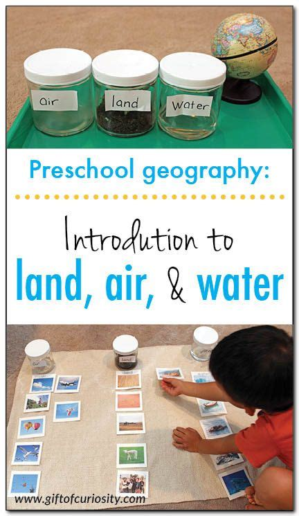 introduction to land air and water preschool geography 826 | 60db362a50906e712962a9344a4e174c
