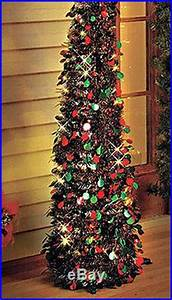 Tree Christmas Artificial Lights Pre Lit LED Xmas Holiday