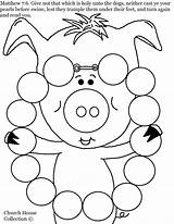 Coloring Necklace Pearls Pages Pearl Jewelry Matthew Pig Swine Printable Before Cast Print Getcolorings Neither Getcoloringpages sketch template
