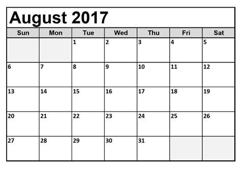 august calendar template august 2017 calendar monthly calendar template letter format printable holidays usa uk pdf