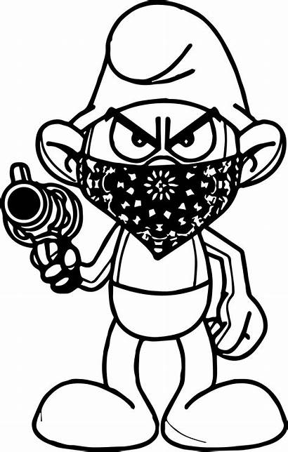 Coloring Pages Thug Gangster Mickey Gangsta Mouse