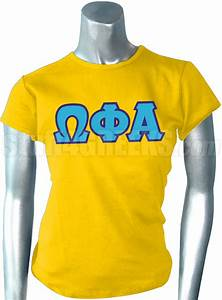 omega phi alpha screen printed t shirt with greek letters With alpha phi omega letter shirts