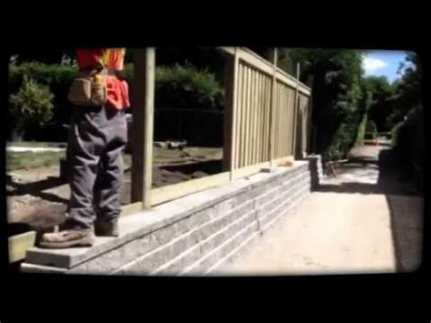 interloc kings  retaining wall fence project youtube