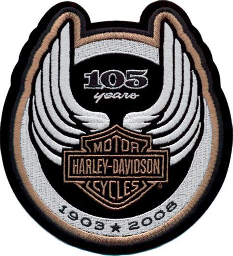 harley davidson patches harley davidson 105th anniversary logo patch usa made