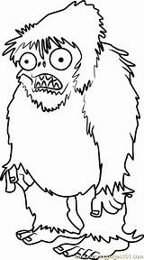 Zombies Coloring Yeti Plants Zombie Vs Pages Plantas Dibujos Printable Zombis Pintar Walking Dead Drawing Drawings Coloringpages101 Games Contra Coral sketch template