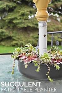 Succulent Patio Table Planter Mad In Crafts