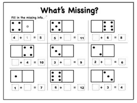 16 Best Images Of Domino Addition And Subtraction Worksheet  Blank Domino Addition Worksheet